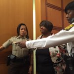 Photo of former APS Regional Exec. Dir. Tamara Cotman being taken into custody. #wsbtv http://t.co/H75kIMacEd