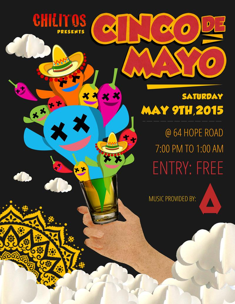 We'll be Djing at Cinco De Mayo at @chilitosmexican on May 9th. Come thru and drink with us http://t.co/np0PgwRkk3