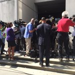Media outside the Fulton County Courthouse after the APS verdict @wsbtv http://t.co/xgE4G70DYF
