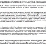DOJ ready to negotiate with #Ferguson. Mayor told @MzzzMariah they'd meet as soon as special counsel was in place. http://t.co/msFaPhdnzi