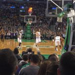 Olynyk is playing tonight despite his swollen eye. Hits his first shot a 3pt. #celtics up 6 after 1st qtr. http://t.co/K2zWvyfWU2
