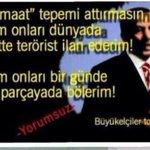 #CinnetVatanımTÜRKİYE Sen masumları terörist ilan edersin, Allah da öyle teröristler musallat eder ki feleğin şaşar! http://t.co/9mm27TgLPw
