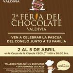 Mañana se inaugura la 2da Feria del Chocolate en la Carpa de la Ciencia del CECs #ValdiviaCL http://t.co/iky7wrEr8z