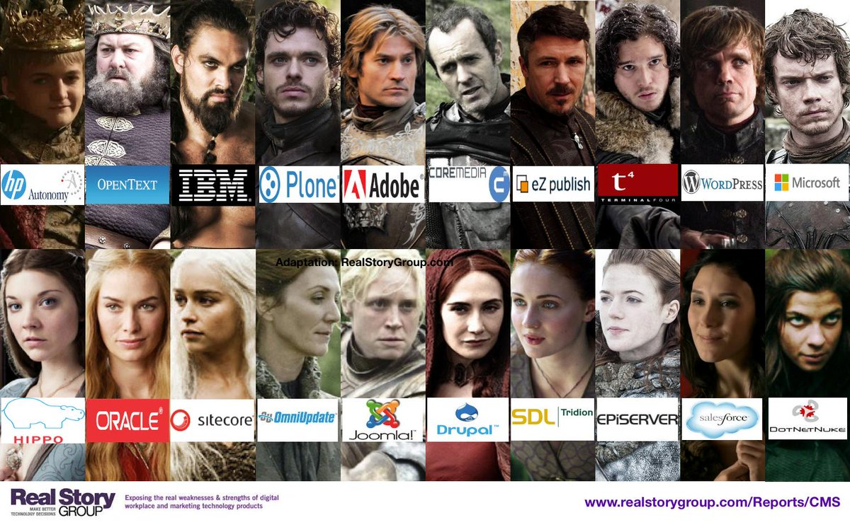 #CMS vendor selection simplified with this Game of Thrones guide to #WCM vendors - http://t.co/k2gfs8VM9X http://t.co/GHAxq4wJIF