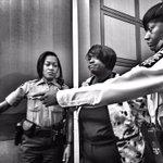 PhotoOp:Deputies take convicted former APS educator Tamara Cotman into custody after racketeering conviction. #wsbtv http://t.co/JQ2DNIzDsg