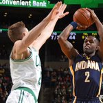The Celtics are shutting down the Pacers and lead 50-39 at halftime. Zeller has 17 points. Indys shooting just 38%. http://t.co/lvkpVDLpNd