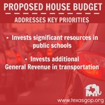 The House budget addresses challenges that our growing state is facing #txlege http://t.co/l6KKi51RNP