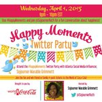 #Atlanta: Join the #HappyMoments Twitter Party w/ Social Media Influencer @SojournerRuth TONIGHT @ 9PM #HappyMoments http://t.co/7bwpd4jchh
