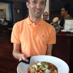 Our new server, Anthony, showing off our special tonight. #h2sr #atlanta #buckhead http://t.co/WVEzcjlEYc