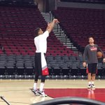 New Blazer Tim Frazier, who was averaging 16 pts, 10 assts, 7 rebs in the @nbadleague, is getting in early work. http://t.co/lS3iZAQX94