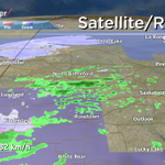 Snow now being reported in Kindersley. Winds gusting to 82 km/h in Leader. Latest @GlobalSaskatoon EN@6 #skstorm #yxe http://t.co/Lu5qjFTmJ6