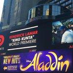 Kendrick Lamar Premieres King Kunta Video in Times Square http://t.co/JJtnvNbko9 http://t.co/WhCZswZ8YY