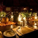 A hallmark of most private game lodges is the fireside dinner under the stars. #timbavati #klaserie #southafrica http://t.co/OHYXrslByP