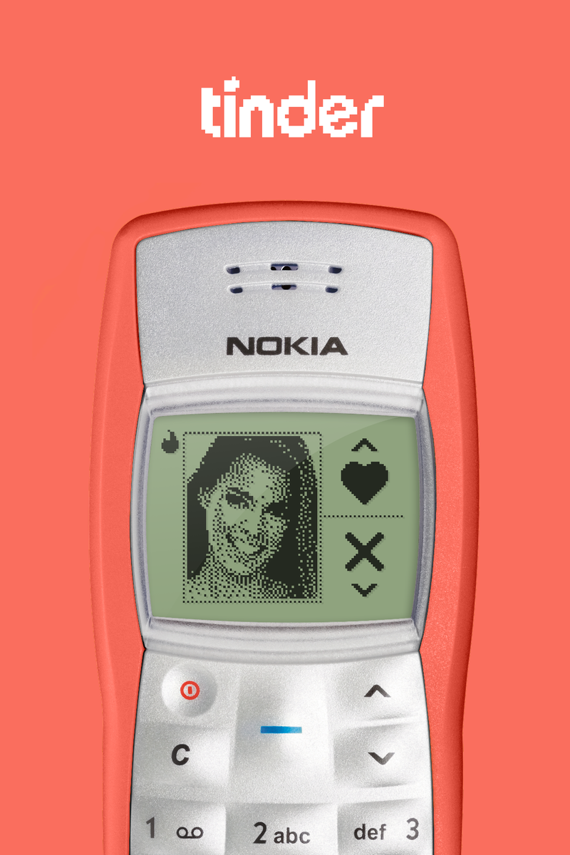 Tinder for Nokia 1100 https://t.co/NNEKtF32Os (Nokia provided by @aerolab) http://t.co/f3ZHiq40H3