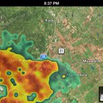Quick moving thunderstorm moving into San Marcos, then headed towards Buda and Kyle. @KVUE @MarkM_KVUE http://t.co/AvIG6Qawu2