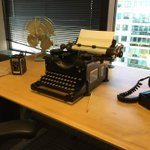 """""""Typewriters and rotary phones in the office? Kendall Square firm pranks its employees http://t.co/wOiYmKgaBi http://t.co/PqnhrS4V5z"""""""