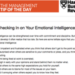 Today's management tip: start working on your emotional intelligence http://t.co/6osvRbQTiA