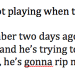 Here are Kelly Olynyks comments on Dougie Hamiltons injury. Bruins had only reported he had upper body injury. http://t.co/tD0mcYfjCc