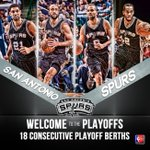 The @Spurs 18th consecutive playoff berth is the 5th-longest streak in NBA history. http://t.co/B3mh89eIBW