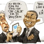 [CARTOON] #TrevorNoah Is Trevor Noah the right colour for The Daily Show? http://t.co/UgQ1fccuo3 http://t.co/gcXMfEiVJt