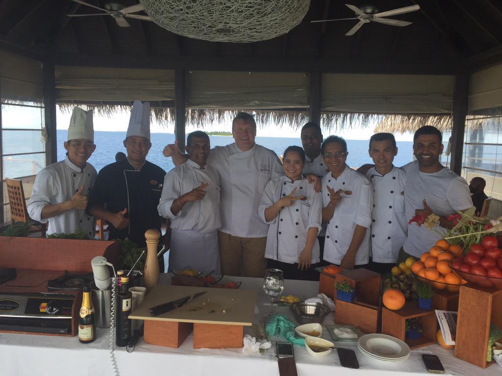 last event @cococollection  cook school masterclass @cookerytutor @NorthcoteUK  @Kirko1234 #Maldives @Starinnthecity http://t.co/iO2Wz376vU