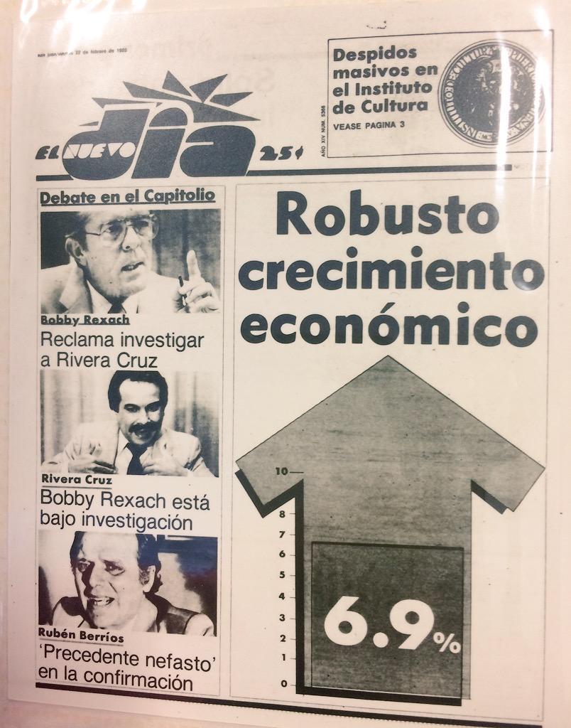 ¿Alguien con esperanza de que esta portada del 1985 pueda repetirse en los próximos cinco años? #EconomiaPR http://t.co/mzErFD1pY5