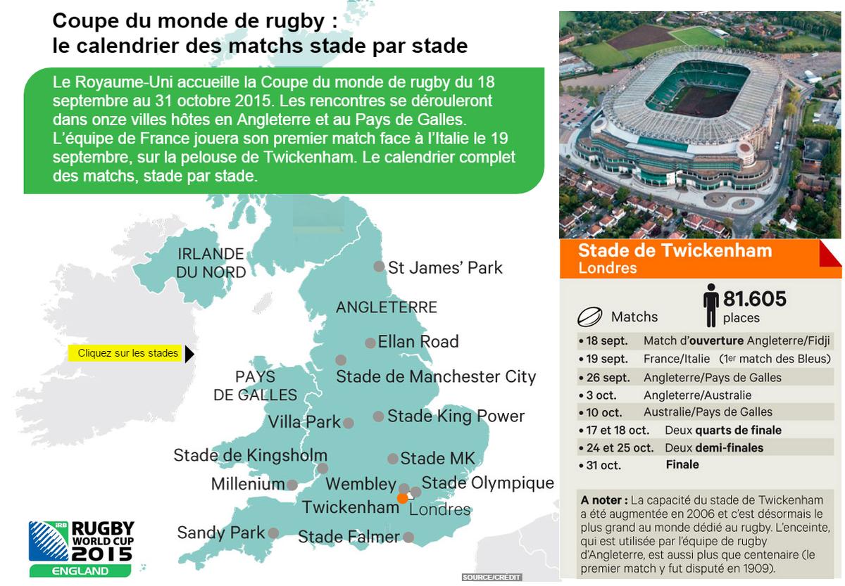 Coupe du monde de rugby 2015 le calendrier des matchs - Calendrier coupe de monde de rugby 2015 ...