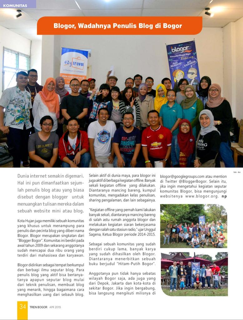 Artikel ttg @BloggerBogor di majalah Tren Bogor edisi April 2015 http://t.co/aufOuAFfD0