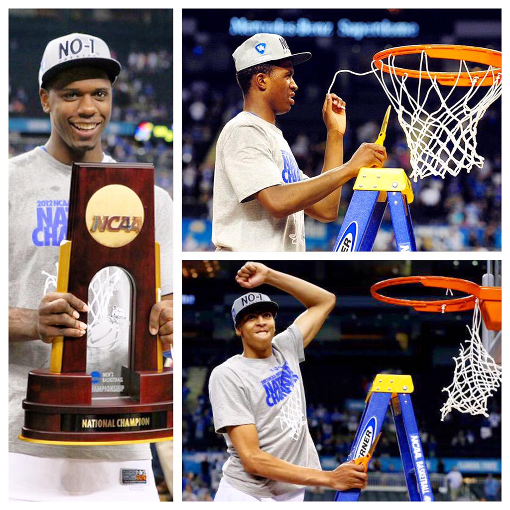 #tbt to when @AntDavis23, @TerrenceJones1 and @DLamb20 won the 2012 NCAA Championship with Kentucky #TeamWass http://t.co/3uKnlbnyPl
