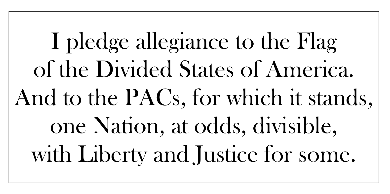 RT @neiltyson: If the Pledge of Allegiance told the truth: http://t.co/Iy5zoyMOls