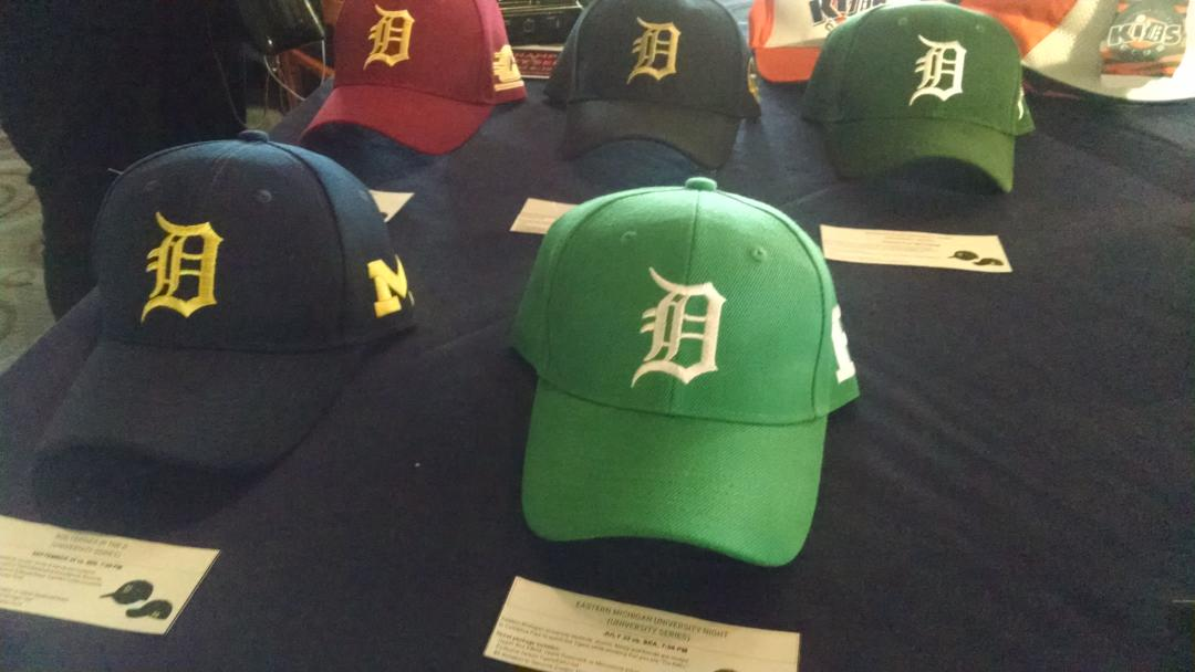 The Michigan college colored caps the #Tigers will sell this season. http://t.co/64AvcALTAi