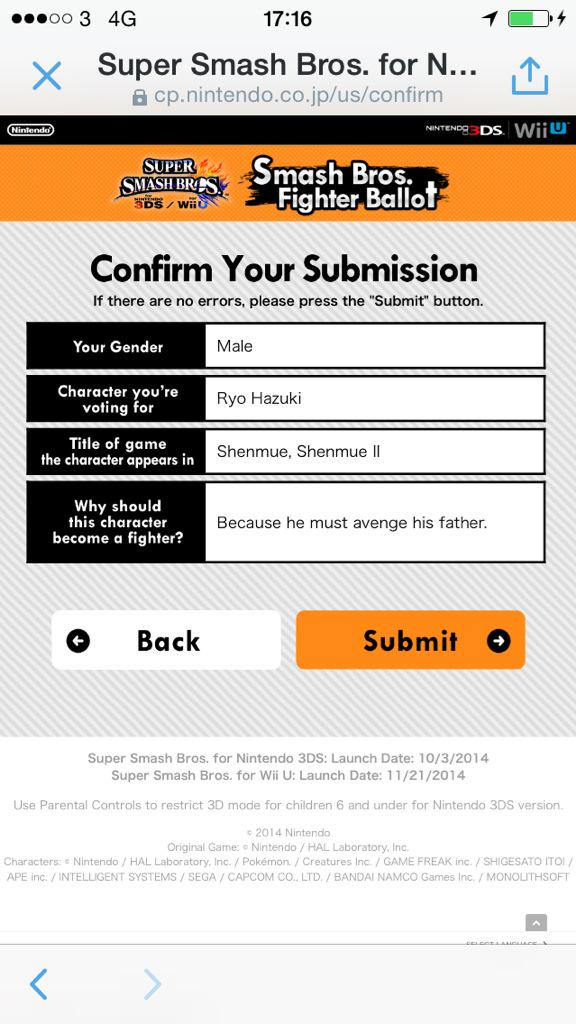Vote for Ryo Hazuki to be in @SmashBrosUS and #SaveShenmue CLICK HERE https://t.co/5QCf38Q2kw http://t.co/BTBClJynZb