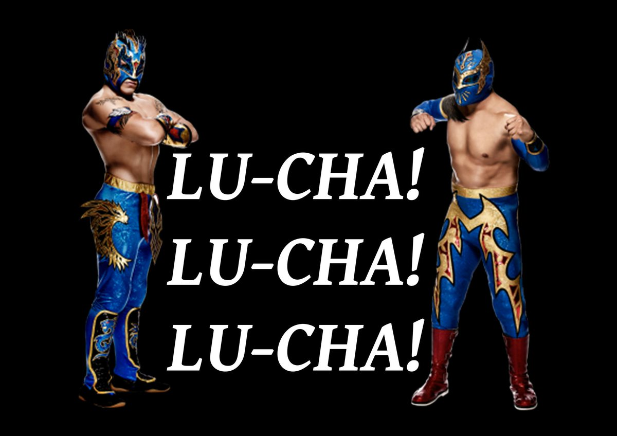 Lu-cha! Lu-cha! Lu-cha! seriously can't wait to see the Lucha Dragons (@KalistoWWE & @SinCaraWWE) in London! http://t.co/vIFacpDOpa