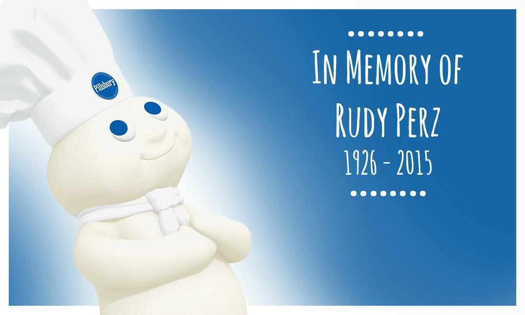 Today we remember Rudy Perz, creator of our beloved Pillsbury Doughboy. http://t.co/i2pyb1oQsb http://t.co/iD36s7jhUf
