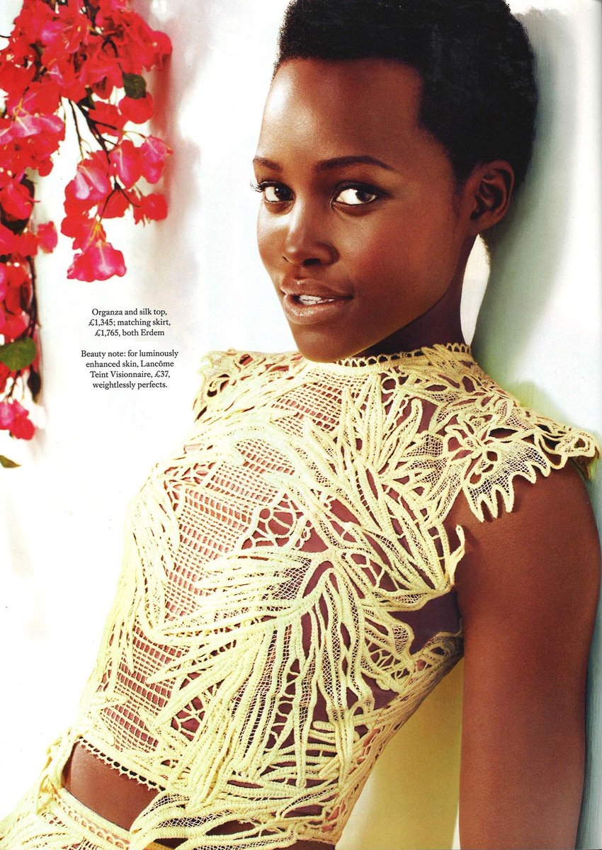 The beautiful Lupita wearing #ERDEM Spring Summer'15 in @BazaarUK's May issue. Dicover more: http://t.co/muB78arChd http://t.co/ZGYJFdHU6l