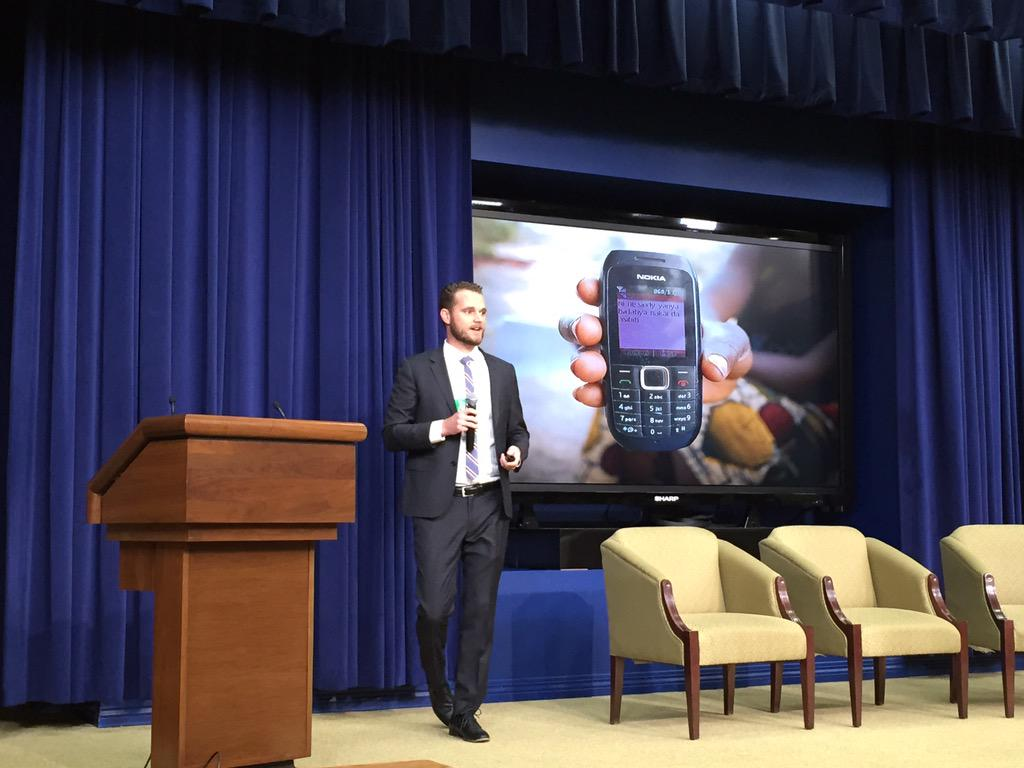 "Importance of SMS as ""killer app"" for development/Ebola response @eric_m_king #FightingEbola @WhiteHouse today @USAID http://t.co/8B7KzdXXFe"