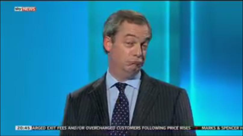 "Farage's face. ""There's nothing he wouldn't blame on foreigners..."" http://t.co/YGa5dvhvu1"