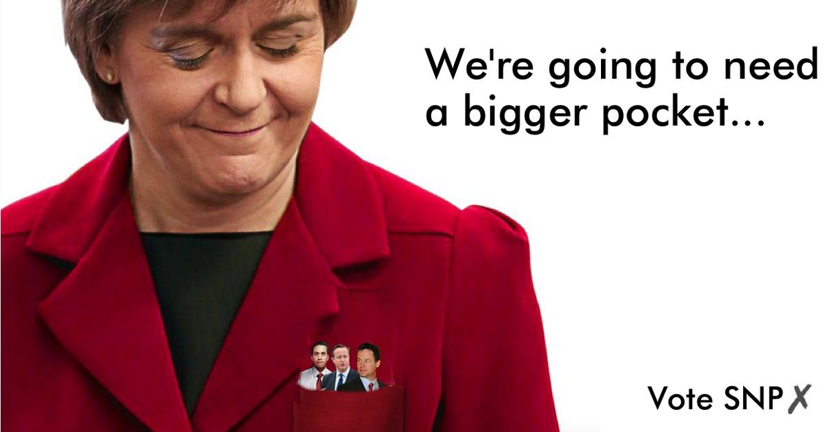 """@BhoysofCroydon: ""@ChristinaSNP: ""@teechur: We're going to need a bigger pocket… #leadersdebate http://t.co/mqaC39XhI0"""" > about right"" x2"