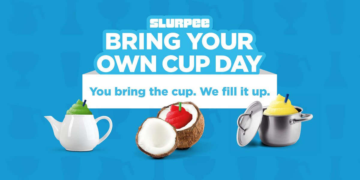 You're crazy for this one, @Slurpee. Bring Your Own Cup Day. April 11th. http://t.co/iEchINFEJw http://t.co/CbTOi8DJw1