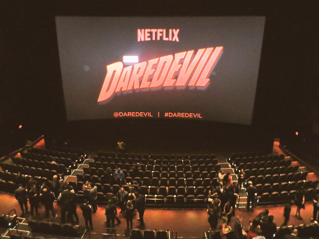 #Daredevil is a hit! Just saw first 2 episodes at @Daredevil premiere. Can't wait to binge watch on Netlfix 4/10! http://t.co/rXs1Py1miN
