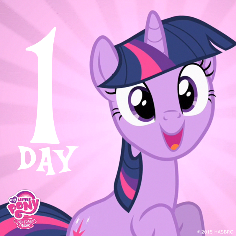 Tomorrow is April 4th, ponies! Who's excited for the premiere of My Little Pony: Friendship is Magic Season 5? #MLP5 http://t.co/Mj98fQThVc