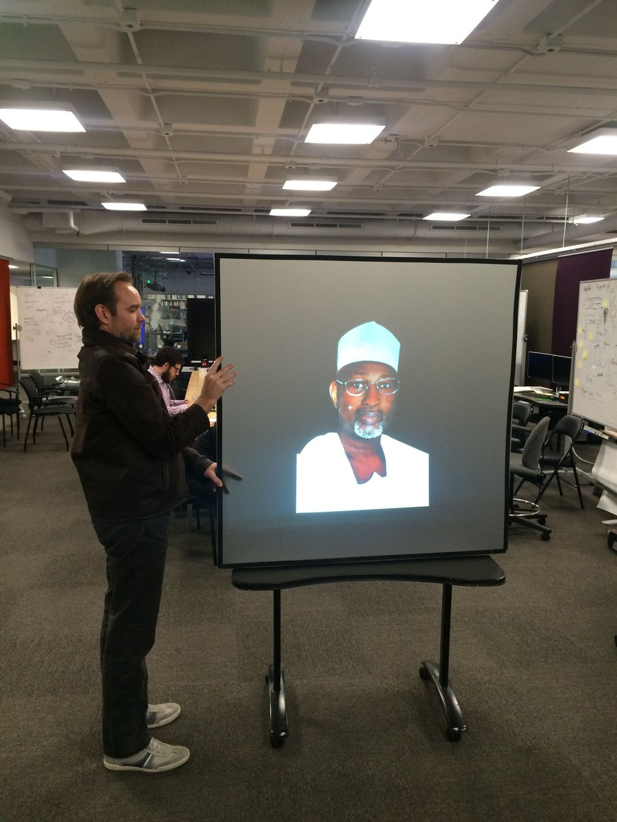 At @civicMIT, we decided we wanted a statue of Prof. #Jega as a civic hero. Prototyping our new civic statue tech: http://t.co/LUPRgxoieZ