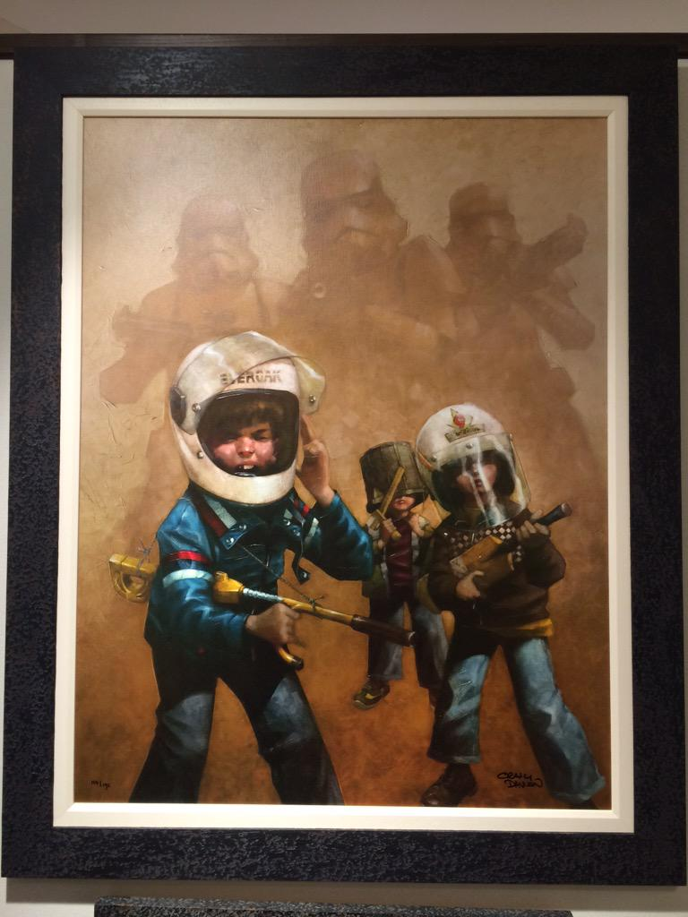 Just discovered the Craig Davison Star Wars art collection http://t.co/zwt54DKcEa