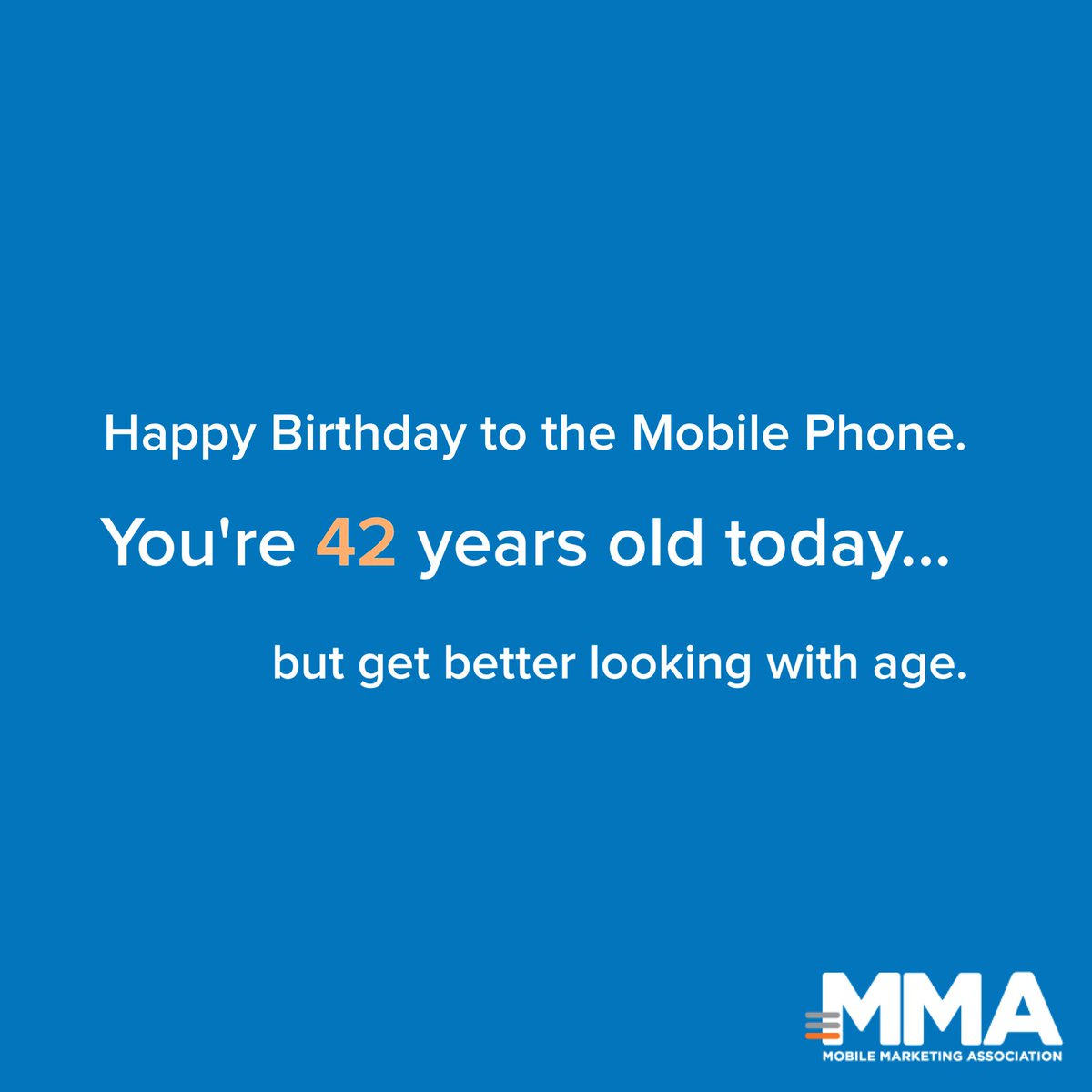 Happy Birthday to the Cellphone, which turns 42 today!  #mobile #happybirthday #betterwithage http://t.co/LB5VB0O3ic http://t.co/dIqW7Zbomz