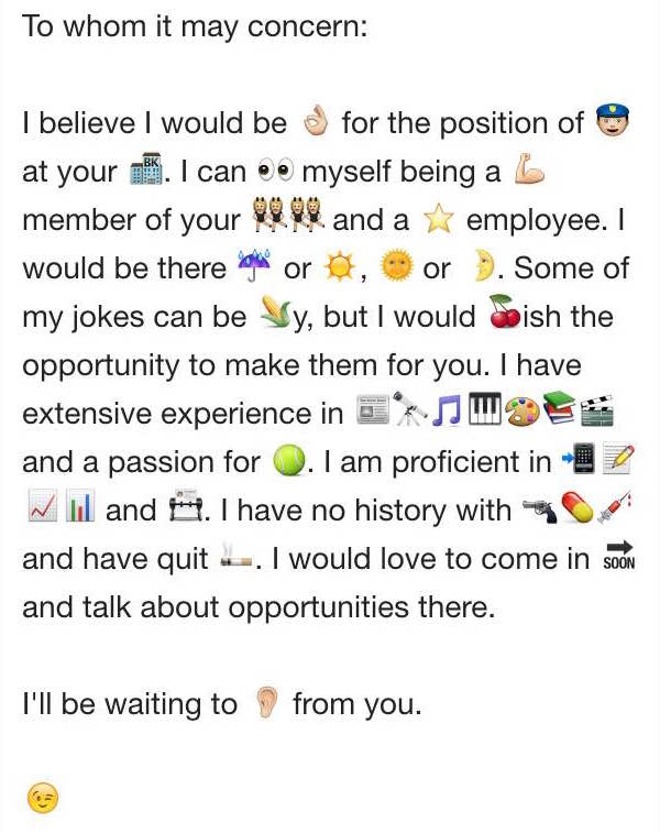 In honor of that nyt story on emojis id like to share this in honor of that nyt story on emojis id like to share this masterpiece fake emoji cover letter i wrote scoopnest altavistaventures Choice Image