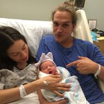 Should I call you LOGAN, Weapon X? @JordanMonsanto, @JayMewes & their brand new, mint-out-the-box baby girl, Logan! http://t.co/fXxNR9PyYZ