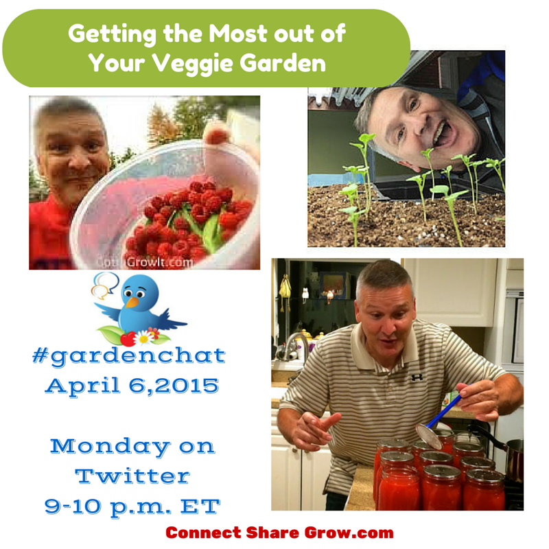 Getting The Most out of your Veggie Garden on the next #gardenchat http://t.co/dvGABjsYq8 Guest Host @gottagrowit http://t.co/7fGCoCzoCe