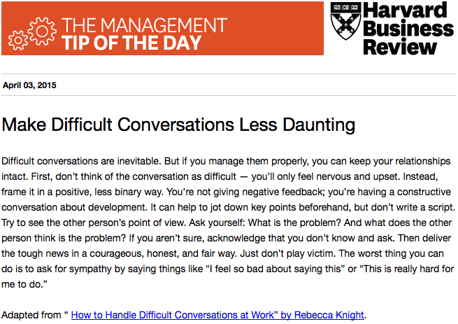 Our management tip of the day is on approaching difficult conversations: http://t.co/LzzOSRRVPk