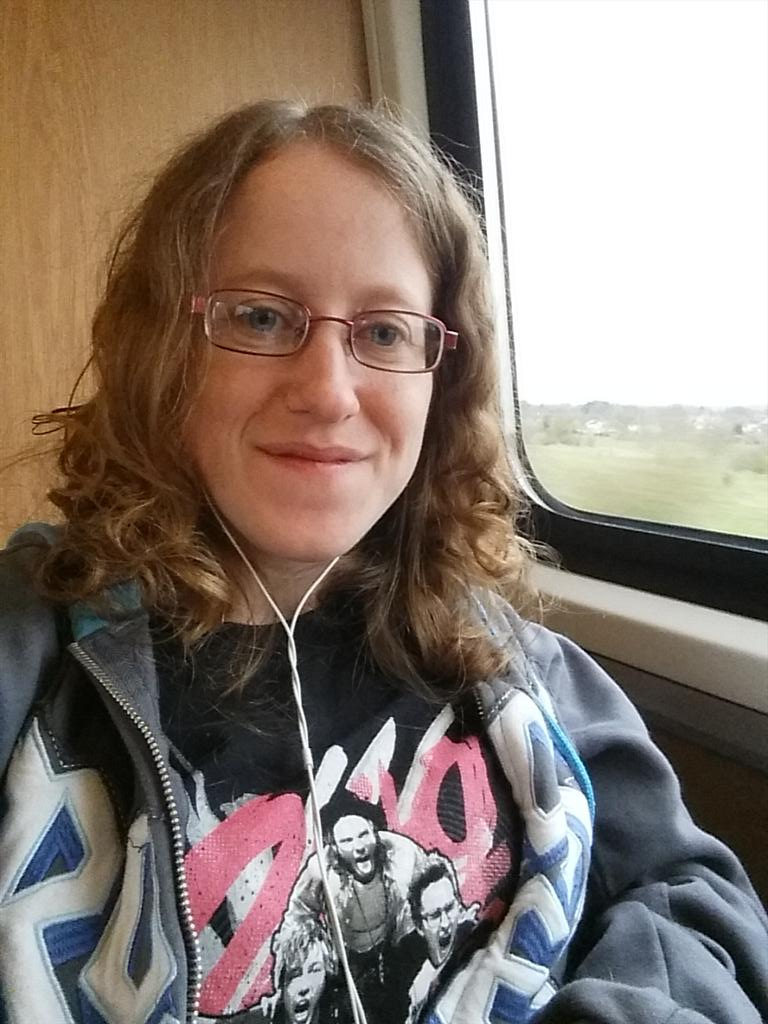 .@mcflyharry #onmywaytomcbusted on the train to London! My wheelchairs all over the place lmfao! http://t.co/ysUorzwtqH