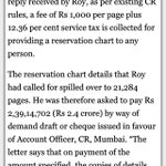 RT @SachinKalbag: The RTI Act says Rs 2 should be levied for copying each page. But the Railways want Rs 1000 per page + service tax. http:…